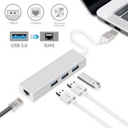 3 Ports USB 3.0 Gigabit Ethernet Lan RJ45 Network Adapter Hub to 1000Mbps for MacBook Air