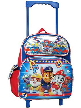 Small Rolling Backpack - Paw Patrol - Boys Team PP Silver School Bag 116125