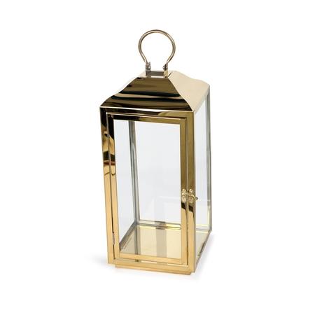 Better Homes & Gardens Gold Lantern Pillar Candle Holder