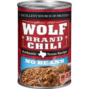 (6 Pack) Wolf Brand Chili Without Beans, 24 Ounce