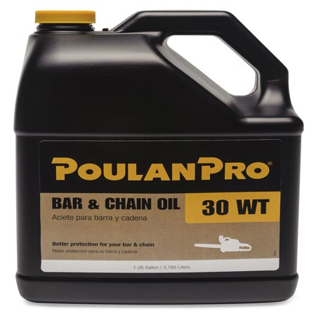 Poulan Pro Bar and Chain Saw Oil in 1-Gallon Bottle (3.78 liters) - Chainsaw Prop