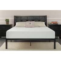Zinus Cherie Faux Leather Classic Platform Bed with Support Slats, Queen