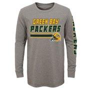 5e02fcd7 Youth Gray Green Bay Packers Tri-Blend Long Sleeve T-Shirt