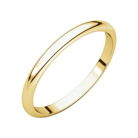 Jewels By Lux 18K Yellow Gold 2mm Half Round Bridal Wedding Ring Band Size (18k Gold Gemstone Ring)