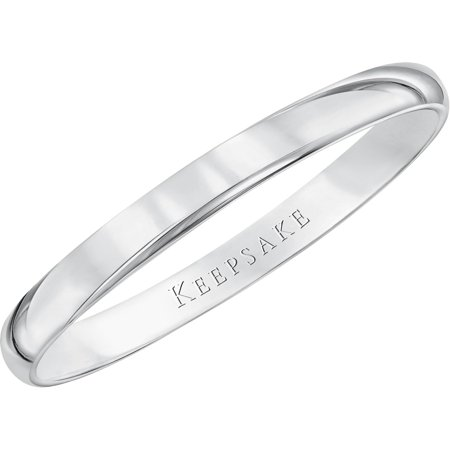 Floral Designed Wedding Band - 10kt White Gold Wedding Band With High-Polish Finish, 2mm