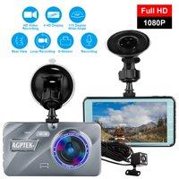 AGPtek Vehicle Video Recorder Dash Cam Night Vision Parking Monitor 1080P Car Dashboard DVR Camera G-Sensor Dash Camera