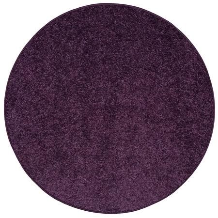 Color World Collection Way Pet Friendly Area Rugs Purple - 3' Round - Black And White Floor Runner
