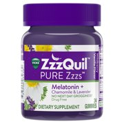 7550a10aa78 Vicks ZzzQuil PURE Zzzs Melatonin Natural Flavor Sleep Aid Gummies with  Chamomile