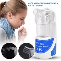 Tbest Portable Ultrasonic Nebulizer Atomizer Beauty Instrument Spray Steamer Humidifier, 100V-240V Nebulizer Kit