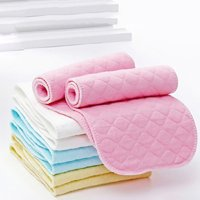 Girl12Queen 10Pcs Reusable Baby Cotton Cloth Diaper Washable 3 Layers Nappy Liners Inserts