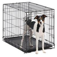 """MidWest 30"""" Single Door iCrate Metal Dog Crate, Black"""
