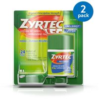 (2 Pack) Zyrtec 24 Hour Allergy Relief Tablets with 10 mg Cetirizine HCl, 70 ct