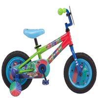 "Pj Masks on Disney Junior, Catboy, Owlette, Gekko, Kids' Bike, 12"" wheel, training wheels, ages 2 - 4, green, blue, red, boys, girls"