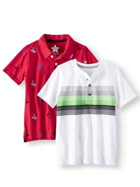 Polo Shirt & Henley Shirt, 2-Piece Multi-Pack (Little Boys & Big Boys)