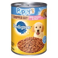 (12 Pack) PEDIGREE Puppy Chopped Ground Dinner With Chicken & Beef Adult Canned Wet Dog Food, 13.2 oz. Can