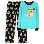 6abd491ae Carter's Boys' 2-Piece Fleece Pajama Set, Green/Black, ...