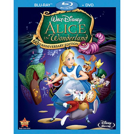 Alice in Wonderland (1951) (60th Anniversary Edition) (Blu-ray + DVD) - Halloween Disney Movies List