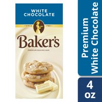 (3 Pack) Baker's Premium White Chocolate Baking Bar, 4 oz Box