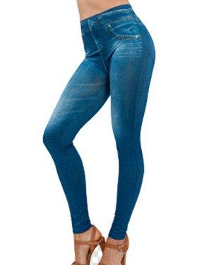 Babula Women Jeans Print Jeggings Pants Skinny Pencil Leggings