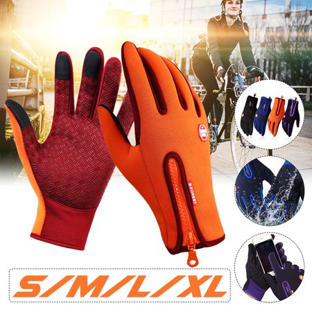 Unisex Winter Warm Windproof Waterproof Full Finger Mittens Anti-slip Thermal Touch Screen Gloves for Skiing Cycling Travelling Outdoor