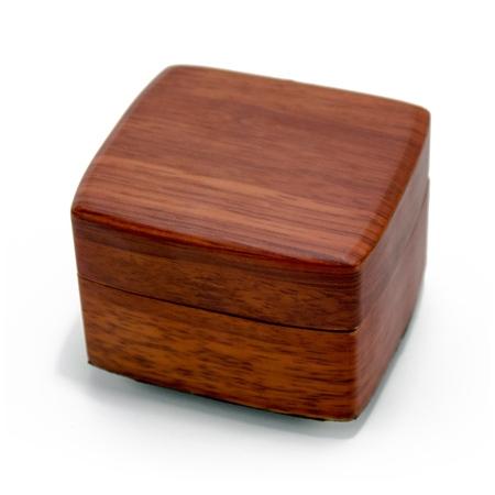 Beautiful Wood Tone Chic 18 Note Petite Music Jewelry Box - America the Beautiful