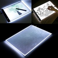 A4 LED Light Pad Box Tracing Table Drawing Board Bright Pad for Drawing Artists Tattoo Stencil Artcraft Tracing Animation Extremely Bright Adjustable Brightness Light Tracer