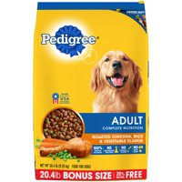 Pedigree Complete Nutrition Adult Dry Dog Food Roasted Chicken, Rice & Vegetable Flavor, 20.4 lb. Bag
