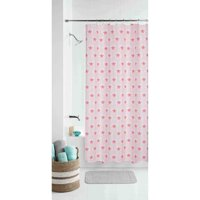 Deals on Mainstays Kids Coral Boho Butterfly Floral Fabric Shower Curtain