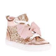 d8b0778af6a5 Jojo Siwa Girls  Rose Gold Crushed Glitter High Top