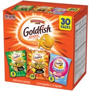 (2 Pack) Pepperidge Farm Goldfish Bold Mix Crackers, 29.4 oz. Variety Pack Box, 30-count Snack Packs