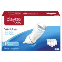 Playtex Baby Ventaire Anti Colic Baby Bottle, BPA Free, 9 Ounce - 5 Pack