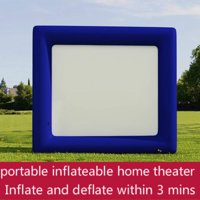 """Clearance!! 120"""" Inflatable Movie Screen Projector Screen Airblown Outdoor Inflatable Movie Screen Projection Screen for Outdoor Parties (The Blower Not Included)"""