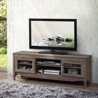 """Techni Mobili Grey Driftwood TV Stand for TVs up to 65"""""""