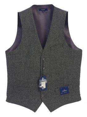 Gioberti Men's 5 Button Formal Casual Tweed Suit Vest