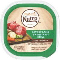 (24 pack) NUTRO Wet Dog Food Cuts in Gravy Savory Lamb & Vegetable Stew, 3.5 oz. Tray