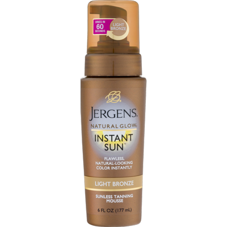 Jergens Natural Glow Instant Sun™ Light Bronze Sunless Tanning Mousse 6 fl. oz. (Best Smelling Gradual Self Tanner)