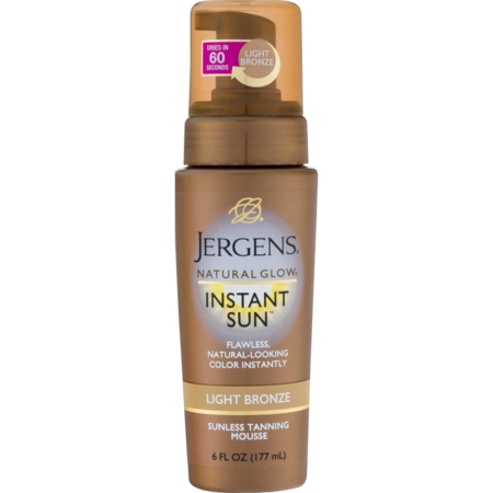Jergens Natural Glow Instant Sun™ Light Bronze Sunless Tanning Mousse 6 fl. oz. Pump Brilliant Bronze Self Tanning