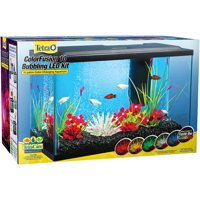 Tetra 10-Gallon ColorFusion Glass Bubbling Aquarium Starter Kit with LED