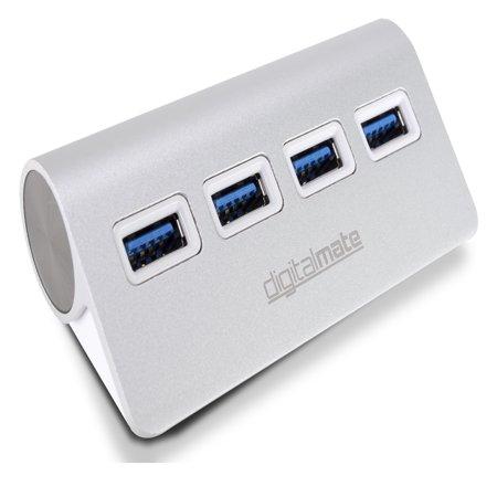 Digitalmate 4 Port High-Speed 3.0 USB Powered Multi Hub Splitter for Mac, Windows or