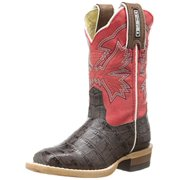c7c7a342a75 Cinch Western Boots Girls Leather Kids Caiman Print Brown Coral KCK107