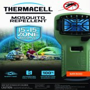 Thermacell MR300 Portable Mosquito Repeller, Olive; Contains Fuel Cartridge and 3 Mosquito Repellent