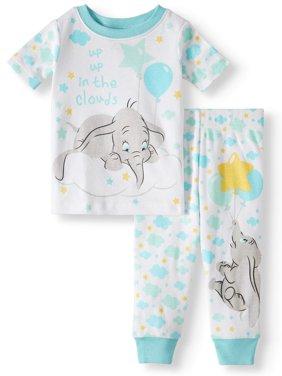 Baby Boys' Dumbo Cotton Tight Fit Pajamas, 2-Piece Set