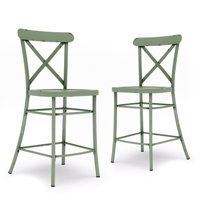 Better Homes & Gardens Collin Counter Height Stools, 2-Pack, Green