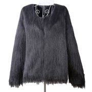 f3116c974e2 Womens Plus Size Warm Winter Loose Faux Fur Parka Coat Overcoat Long Sleeve  Jacket Outwear Luxury