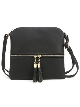 Product Image Deluxity Tassel Crossbody Purse- Black 1a26cca919