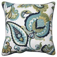 "Better Homes and Gardens Paisley Floral Accent Pillow, Green, 18"" x 18"""