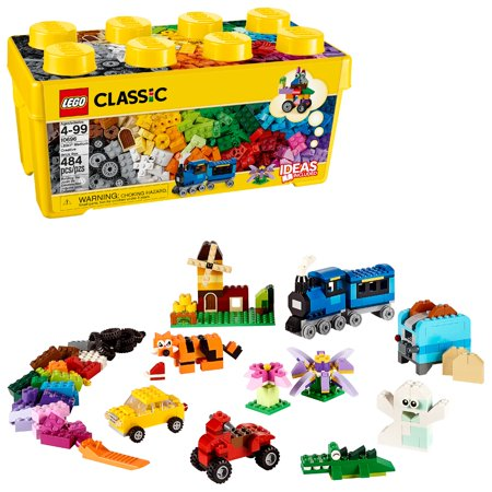 - LEGO Classic Medium Creative Brick Box 10696 creative building Toy (484 Pieces)