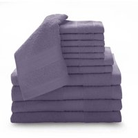 100% Ring-spun Cotton Luxury 12-Piece Towel Set Collection with Bath Sheets