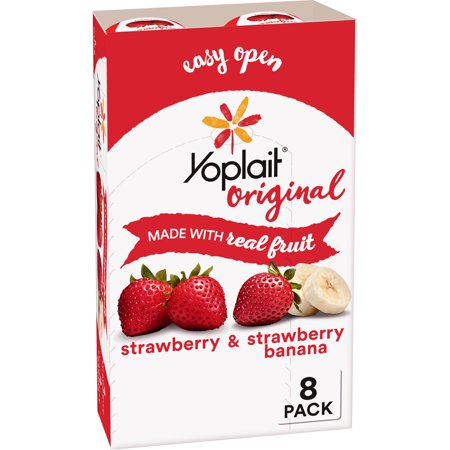 Yoplait Original Yogurt Strawberry & Strawberry Banana