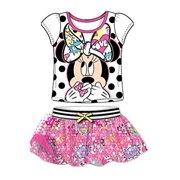 5414eb54d9 [P] Disney Youth Girls' Minnie Mouse Mesh Sleeve T Shirt and Comic Print